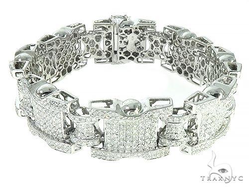 14K White Gold Prong Diamond Bracelet 65679 Diamond