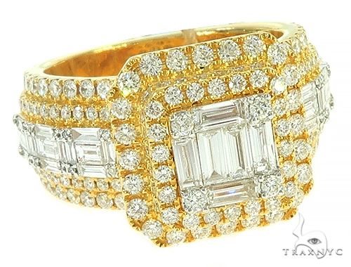 Blue Maggic Square Head Diamond Ring 65680 Stone