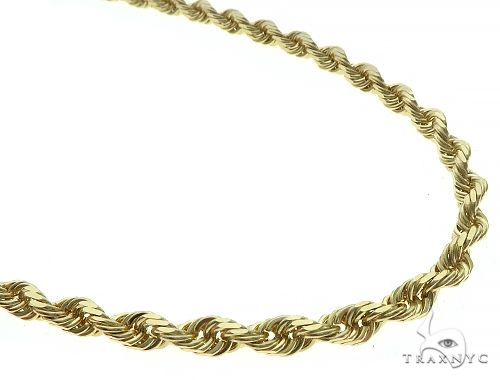 10K Yellow Gold Diamond Cut Solid Rope Chain 24 Inches 5mm 51 Grams K-5 65683 Gold