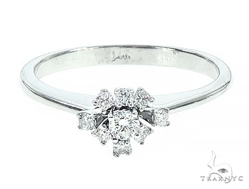 14K White Gold Diamond Ring 65689 Anniversary/Fashion