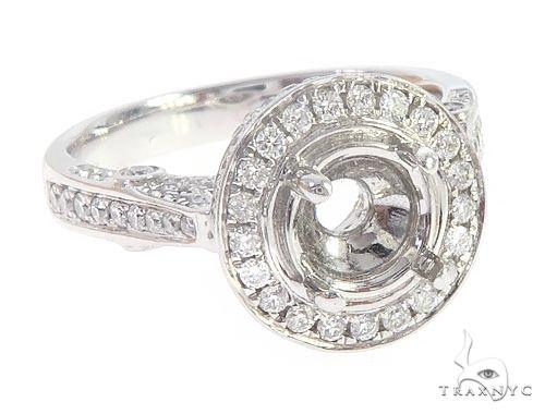 14K White Gold Semi Mount Diamond Rings 65711 Wedding