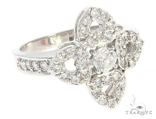 14K White Gold Diamond Flower Ring 65714 Anniversary/Fashion