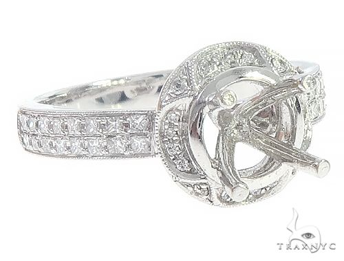 14K White Gold Semi Mount Diamond Engagement Rings 65719 Engagement