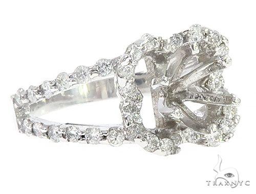 14K White Gold Semi Mount Diamond Engagement Rings 65720 Style