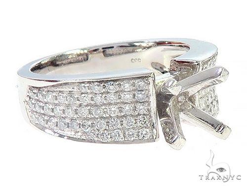 14K White Gold Semi Mount Diamond Engagement Rings 65721 Engagement