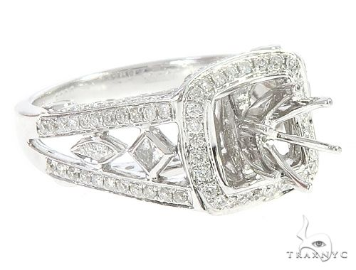 18K White Gold Semi Mount Diamond Engagement Rings 65722 Engagement