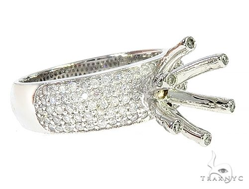 14K White Gold Semi Mount Diamond Engagement Ring 65726 Style