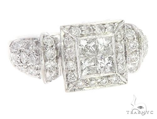 18K White Gold Diamond Ring 65728 Anniversary/Fashion