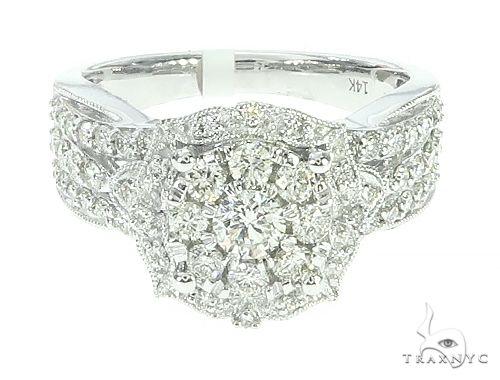 14K Gold Diamond Cluster Halo Engagement Ring 65732 Engagement