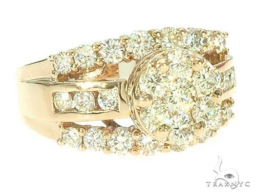 14K Gold Diamond Round Halo Ring 65735 Style