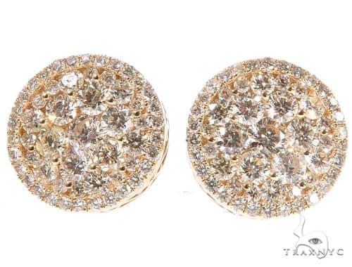 14K Gold Diamond Stud Earrings 65752 Stone