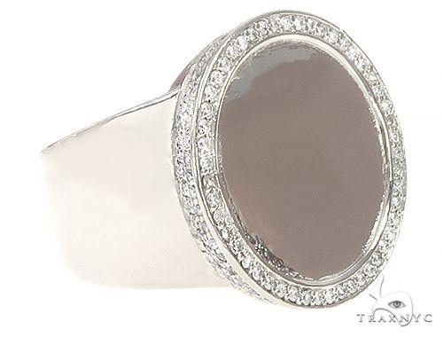 14K White Gold Memorial Photo Ring 65761 Metal