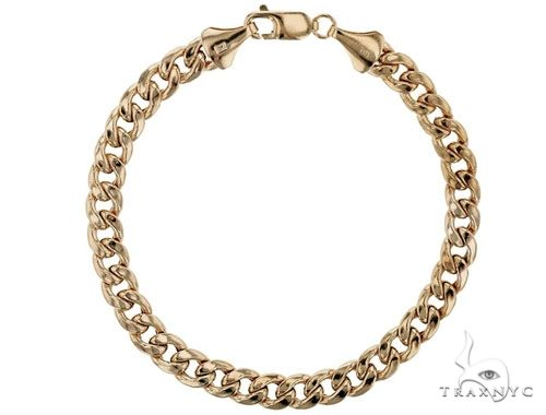 TraxNYC's Best Buy Cuban Link Bracelet 14K Yellow Gold 8 Inches 4.6mm 5.0 Grams 65778 Gold