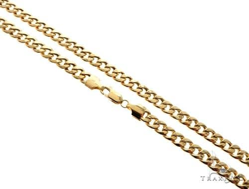 bcec4f2456f 14KY Hollow Cuban Curb Link Chain 28 Inches 5.2mm 22.5 Grams 65779 Gold