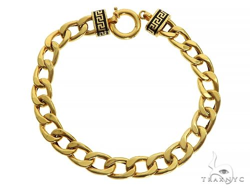 21K Yellow Gold Cuban Link Bracelet 65805 Gold