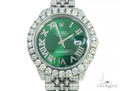 Mens Diamond DateJust 40mm Rolex Watch 65808 Diamond Rolex Watch Collection