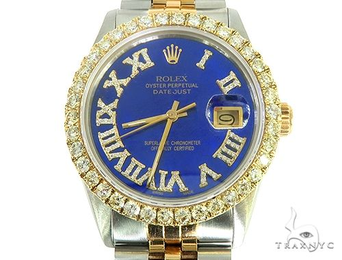 Two Tone Diamond DateJust 36mm Rolex Watch 65814 Diamond Rolex Watch Collection