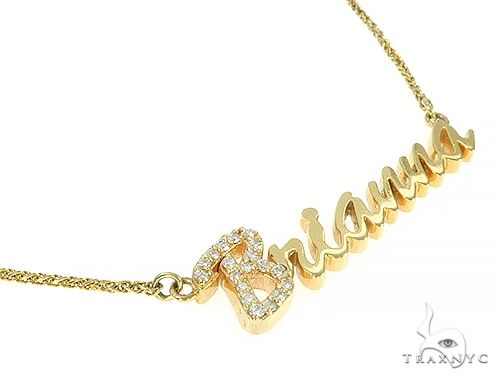 14K Yellow Gold Brianna Dimond Name Pendant 65822 Diamond