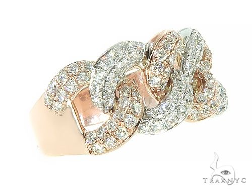 Two Tone Diamond Miami Cuban Link Ring 65823 Stone