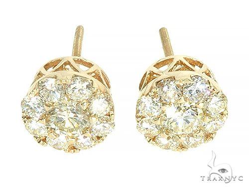 14K Gold Diamond Stud Earrings 65825 Stone