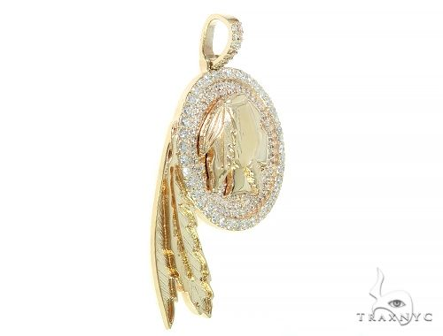 Indian Head Diamond Pendant 65826 Metal
