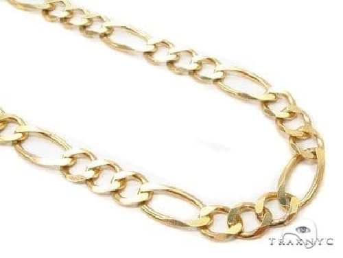 Mens 14k Solid Yellow Gold Figaro Chain 20 Inches 7.5mm 31.9 Grams 65833 Gold