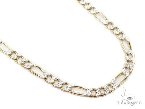 10K Yellow Gold Hollow Figaro Chain 28 Inches 7mm 22.5 Grams Gold