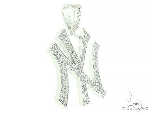 New York Yankee Diamond Pendant 65859 Metal