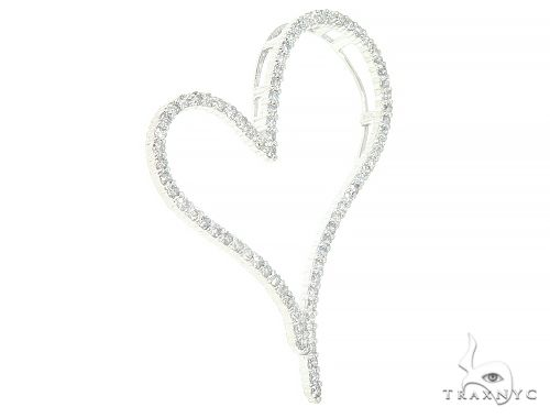 14K White Gold Diamond Heart Pendant 65865 Style