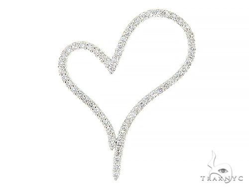 14K White Gold Diamond Heart Pendant 65866 Style