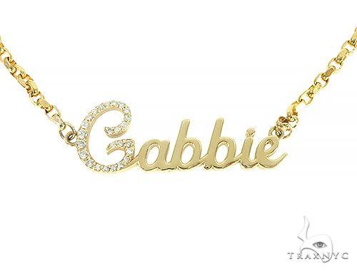 14K Yellow Gold Gabbie Dimond Name Pendant 65868 Diamond