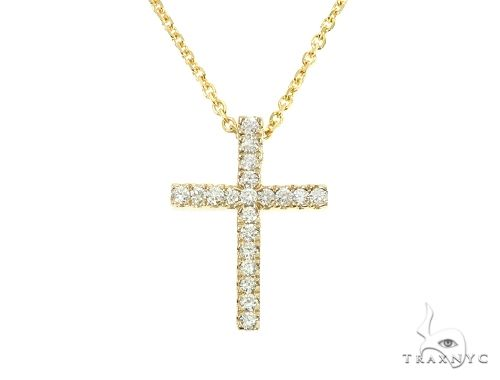 Diamond Cross Necklace Set 65878 Diamond