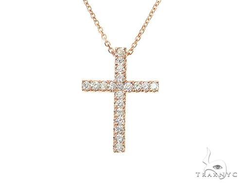 Diamond Cross Neckace Set 65880 Diamond Cross Pendants