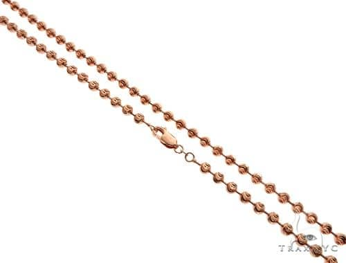 14K Rose Gold Moon Cut Chain 28 Inches 5mm 44.6 Grams 65887 Gold