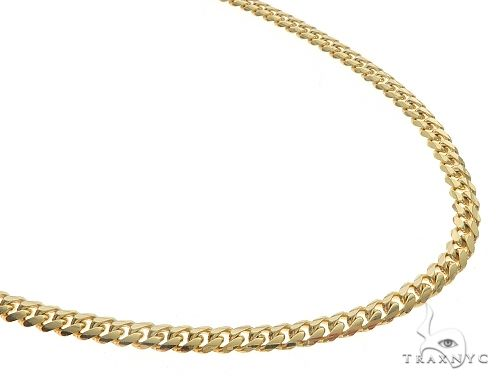 14K Yellow Gold Solid Miami Cuban Link Chain 22 Inches 4 mm 27.3Grams 65919 Gold