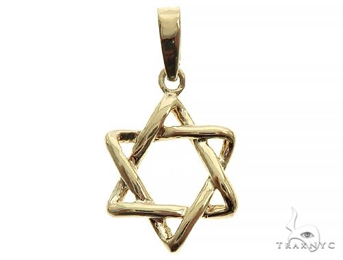 14K Yellow Gold David Star Pendant 65940 Metal