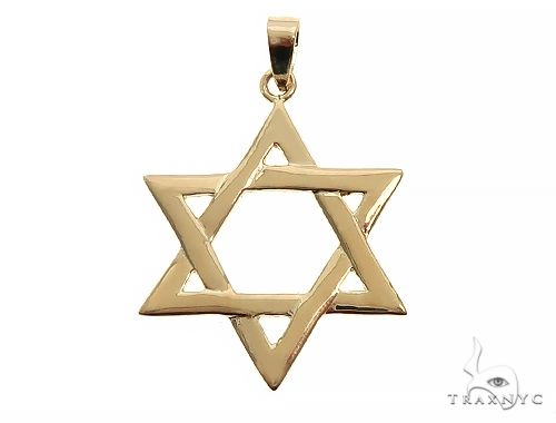 14K Yellow Gold David Star Pendant 65942 Metal