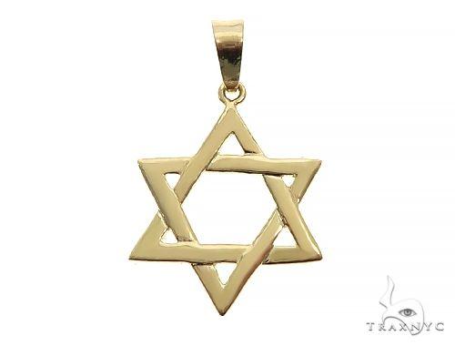 14K Gold David Star Pendant 65943 Metal