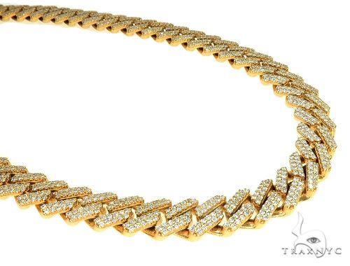 14k Yellow Gold Diamond Miami Cuban Link Chain 22 Inches 11.5mm 21.45ct 198.90 Grams 65947 Diamond