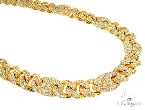 Miami Cuban Gucci Link Diamond Chain 240.00 Grams 22 Inches 13mm  65950 Diamond