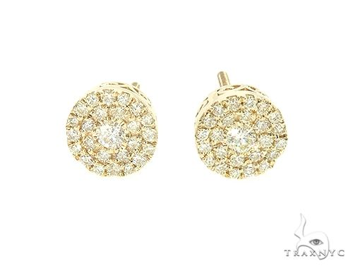 14K Yellow Gold Diamond Stud Cluster Earrings 65957 Stone