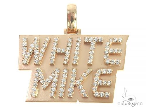 Custom Made White Mike Diamond Pendant 65960 Metal