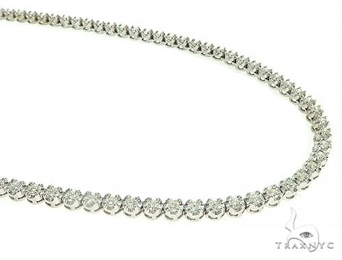 Polar Iced Diamond Chain 24 Inches 4mm 31.50 Grams Diamond