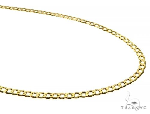 10K Yellow Gold Hollow Curb Link Chain 22 Inches 3.5mm 5.0 Grams 65985 Gold