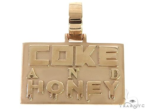 Custom Made Coke And Honey Pendant Metal