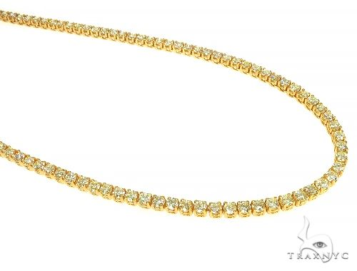 14K Yellow Gold Diamond Tennis Chain 22 Inches 3mm 19.81ct 31.00Grams  65993 Diamond