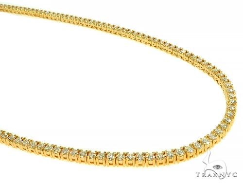 TraxNYC Signature 7 Pointers 14K Yellow Gold Diamond Tennis Chain 66005 Diamond