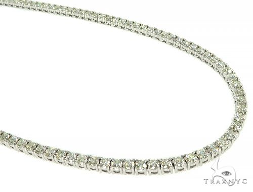TraxNYC Signature 15 Pointers 14K White Gold Diamond Tennis Chain 66006 Diamond