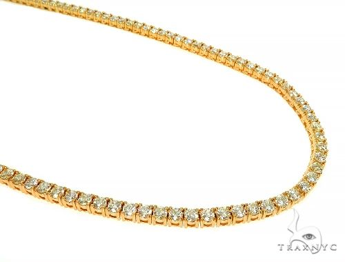 TraxNYC Signature 15 Pointers 14K Yellow Gold Diamond Tennis Chain 66007 Diamond