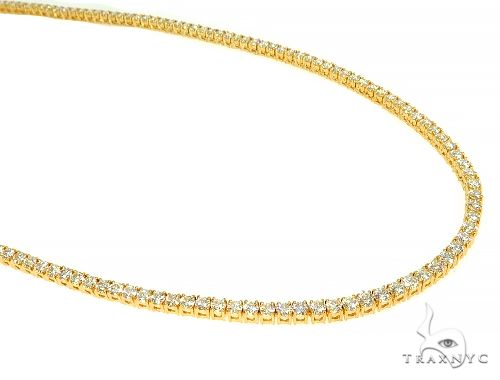 TraxNYC Signature 5 Pointers 14K Yellow Gold Diamond Tennis Chain 66008 Diamond